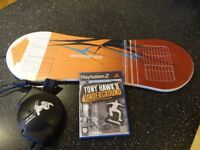 Playstation Skateboard and game.