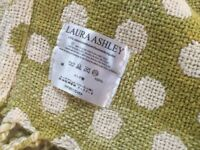 Laura Ashley Cream Lime Spotted Throw
