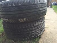 Vectra alloy wheels with tyres