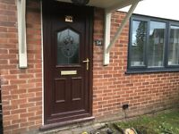 Pvc front door in woodgrain