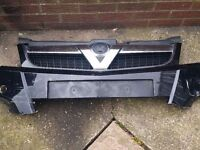 VAUXHALL VECTRA C 2005-2009 FRONT BUMPER CHROME V GRILL GRILLE FACELIFT
