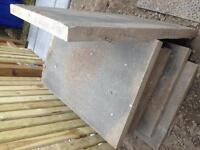 Grey British Standard Paving Slabs (L)900mm (W)600mm (D)50mm