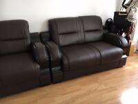 Italian genuine Leather Sofa suite
