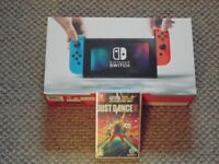 Nintendo Switch Neon With 2018 Just Dance Package Brand New As Pictured