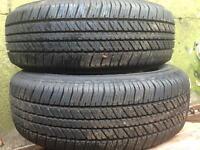 Bridgestone Dueler H/T tyres x2 265/65R17