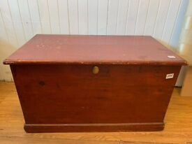 Wooden Chest , great for storage . Size W 90cm D 50cm H 50cm