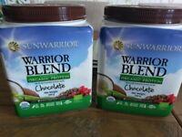 Sunwarrior Warrior Blend Chocolate 2 x 500g tubs