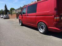 Vw t5 transporter banded steel wheels