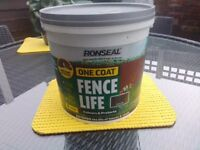Ronseal Fence Life 9 Litres Dark Oak New & Sealed