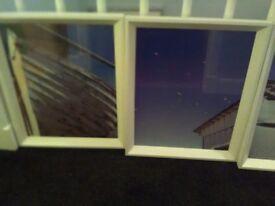 Set 3 seaside prints with wooden frames