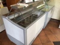 Ice cream freezer serve over counter