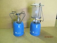 CAMPING GAZ LANTERN AND COOKER (GAS LAMP AND STOVE)
