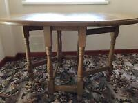 Brand new solid oak table