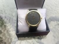 MARC JACOBS LADIES BAKER BLACK LEATHER WATCH