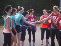 Play NETBALL with us on Tuesday evenings £6 per week