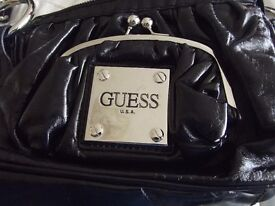 Genuine designer handbag and attached purse by GUESS
