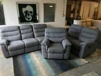 X Display Fabric 3 seater 2 seater arm chair recliner sofa delivery available!!!!