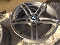 "Genuine bmw 19"" 313 alloys bbs front pair e90 e93 e92 e46 alloys"