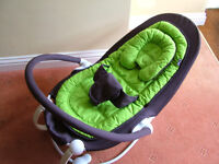 Bababing IOBO Baby Chair in bright green with cuff for smaller babies.