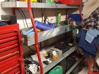 Four tier storage shelving units