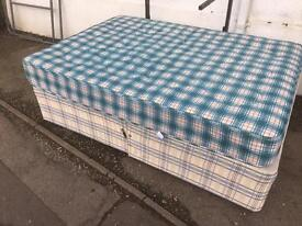 Double bed. Mattress and base.