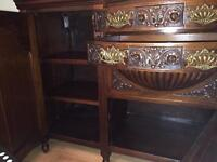 A Stunning, Rare and Heavily Carved Victorian Sideboard
