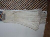 Pure Silk vintage wedding dress size 12 long sleeved