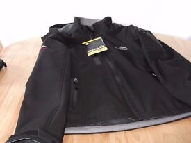 CIKRILAN women's soft shell black jacket - brand new waterproof/windproof with detachable hood.