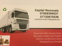 24/7 man and van hire house office home flat move and Rubbish removals packing services luton van