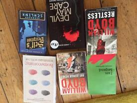 Box full of contemporary fiction novels