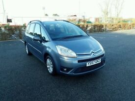 2007 CITROEN C4 GRAND PICASSO VTR PLUS 1.8 PETROL - LONG MNOT - WARRANTY