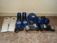 Full set of Top ten kickboxing/taekwondo/MMA equiptment everything in picture included.
