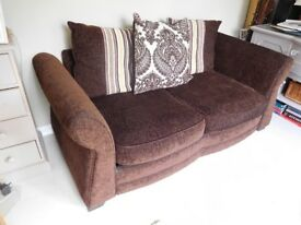 DFS sofa bed 2 seater sofa with metal frame pull out bed with mattress PRICE REDUCED SPACE NEEDED