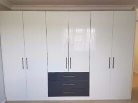 Almost New - Schreiber Wardrobes - White and Grey - Over £2,000 new!!