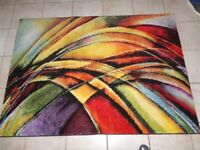"Abstract multicolour rug ""Impressionist"" based on Van Gogh design. Size - 120cm x 170cm"