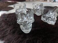 Glass skull shot glasses