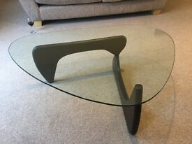 Heavy glass coffee table