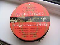 Audio Books - 10 Penguin Classic Audio Books On 45 CDs in Zipped Tin VGC - RRP £129.99