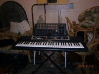 Yamaha keyboard full size with stand