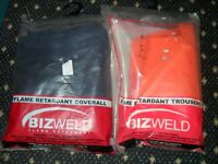 FIRE RETARDANT TROUSERS (L) AND OVERALL XXL