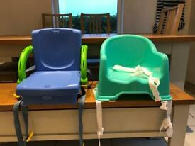 2 booster chairs for sale