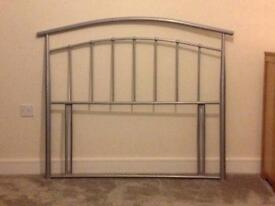 Grey Metal 3/4 Bed Size Metal Headboard