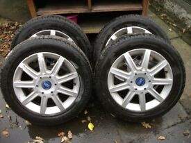 FIAT 5 stud alloy wheels and tyres,