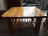 Solid pine chunky coffee table hand-made