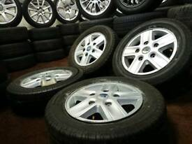 "Genuine OEM Ford transit 16"" 5x160 alloy wheels + four excellent tyres"