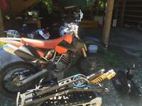 2004 KTM 525, recluse clutch and 2moto snow kit
