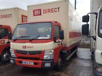 90 x 2013 -62 plate mitsibuhi canter 75c-150 20ft box vans very light use plus vat