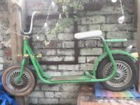 Green Hungarian Child's Scooter