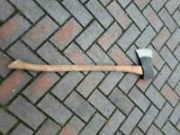 3 foot heavy duty axe with hickory handle