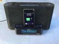Sony XDR-DS12iP iPod iPhone MP3 Speaker Charger Dock DAB/FM Radio Alarm Clock
